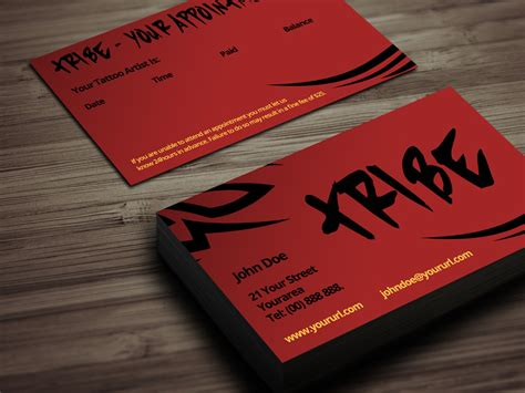 tattoo business card designs business card template psd business card design