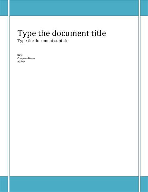 ms word cover page templates free word templates e commercewordpress