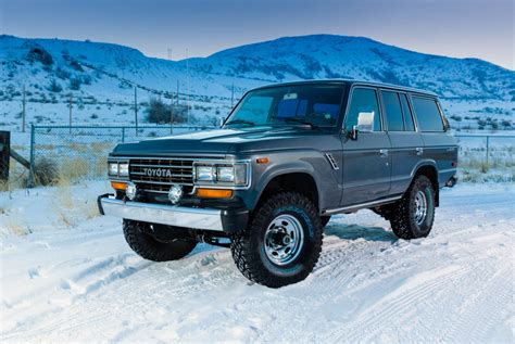 1980s toyota land cruiser toyota land cruiser j60 in the snow dav d photography