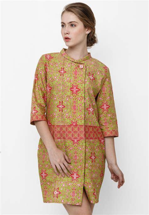 Kain Batik Cap Daun Etnic mini dress pintu retno by danar hadi batik