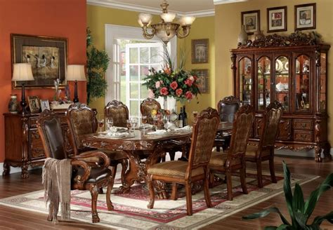 formal dining room set dresden dining table cherry by acme