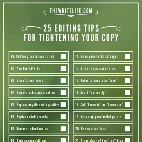 free tips 25 editing tips for tightening your copy now a printable