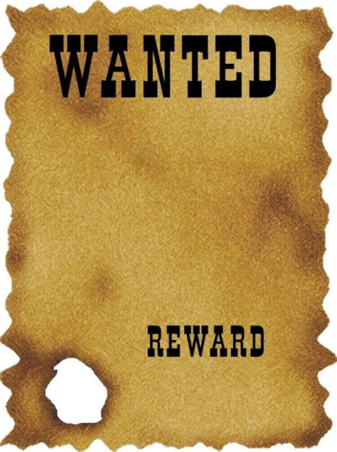 Western Wanted Poster Template Free Utah Council For The Free Wanted Poster Template