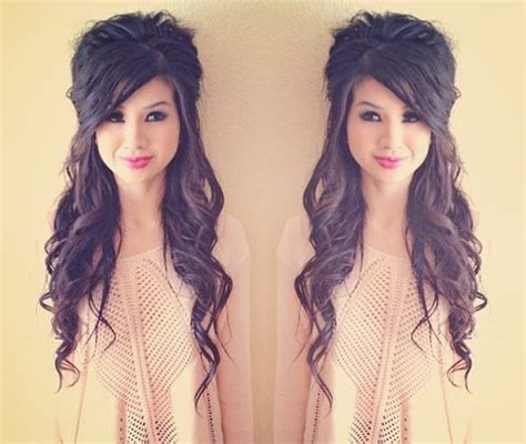 simple half up party lob the prettiest half up half down 276 best hairstyles for medium length hair images on