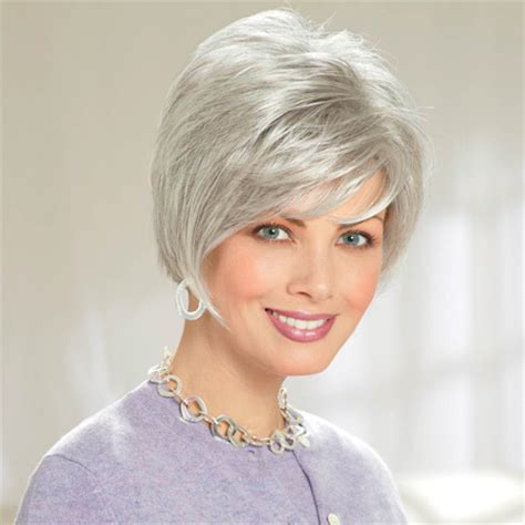 gray frosted hair shown in light frosted grey 5660 short hairstyle 2013