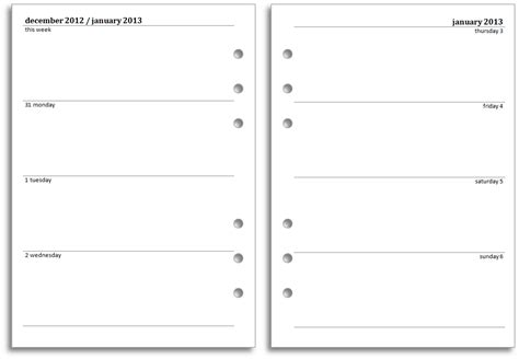 printable planner inserts 2016 philofaxy diary inserts