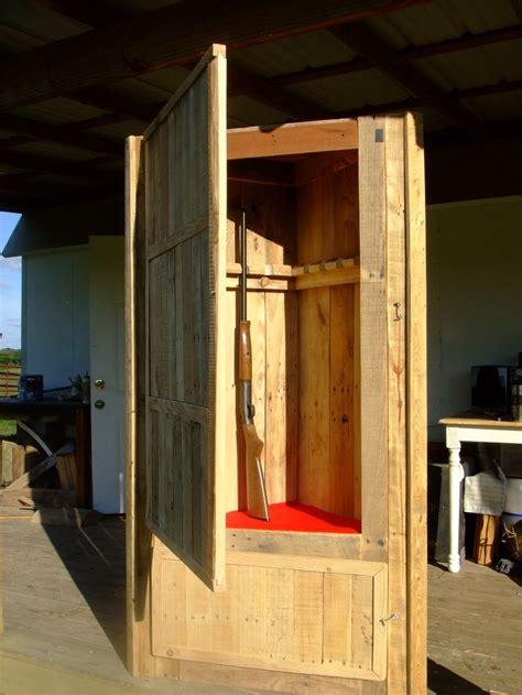 custom gun cabinet build  pallet wood pallet  wood slab projects pinterest custom