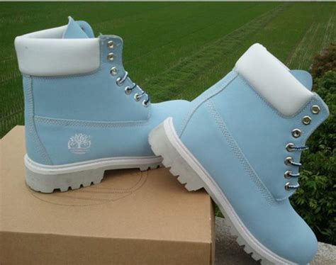 light blue boots shoes timberland light blue boots wheretoget