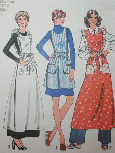 sewing pattern for victorian apron simplicity 6732 vintage apron sewing pattern downton