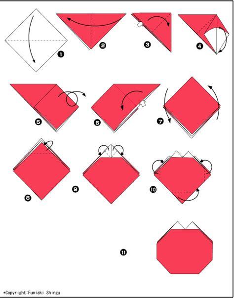 Origami Tomato - origami paper tomato scheme and origami