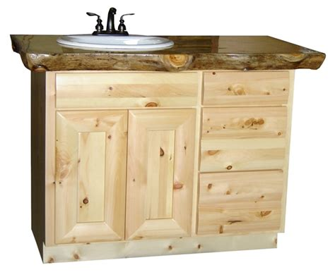 pine log vanity cabinets log home vanity the log