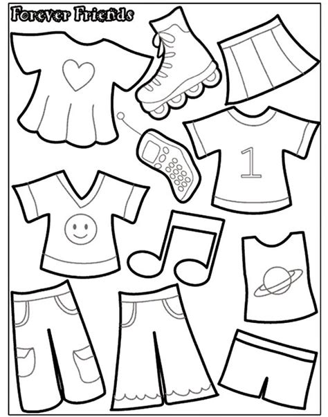 clothing templates felt board or book paper doll template kalıp
