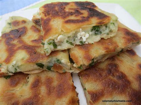ottoman recipes turkish flat breads with potato and cheese patatesli