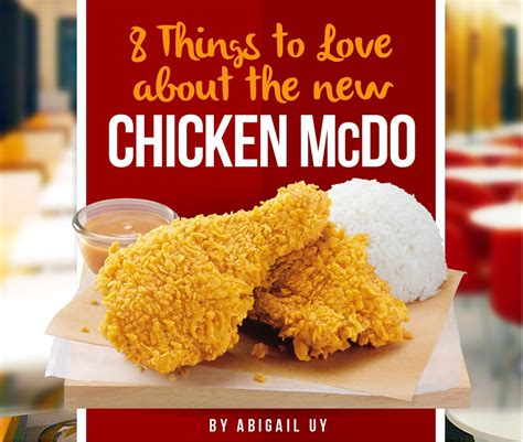 8 Things I About New by 8 Things You Should And About The New Chicken Mcdo