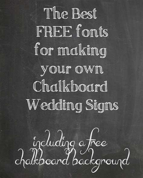 Wedding Font Diy by Chalkboard Fonts For Your Own Wedding Signs The