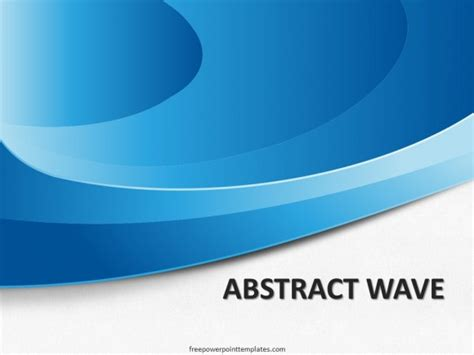 10167 abstract waves blue fppt 1 free powerpoint templates