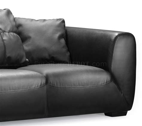 black leather sofa cushions black leather contemporary sofa with oversized cushions