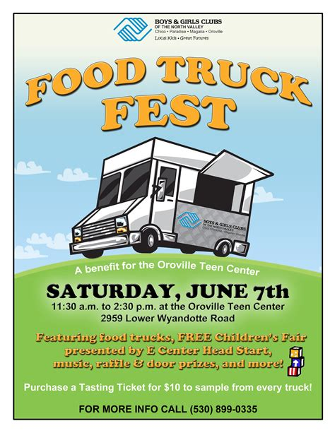 Oroville Children S Fair And Food Truck Fest June 7 Helpcentral Org Food Truck Flyer Template