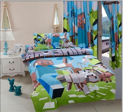 Bed Cover Set Saputra Single 120 X 200 Anime Edition 3pcs minecraft bedding sets 100 cotton bed linen with duvet cover fitted sheet pillow
