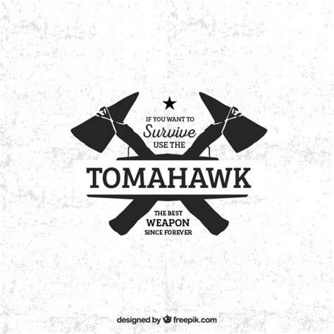 tomahawk template tomahawk badge vector free