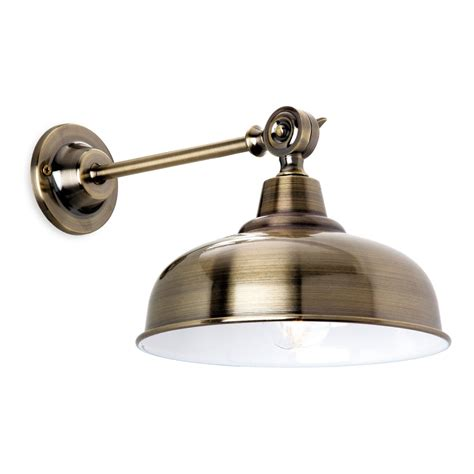 Kitchen Wall Lights Uk Firstlight Single Light Wall Fitting In Antique Brass Finish Lighting Type From