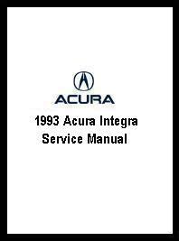 service and repair manuals 1993 acura integra security system 1993 acura integra service manual