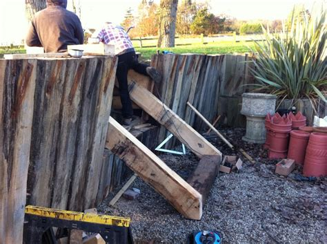 How To Cut A Railway Sleeper by Steps From New And Used Railway Sleepers