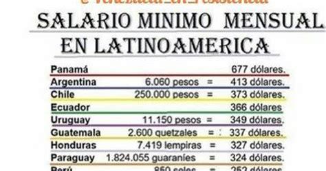 salario minimo actual en venezuela 2016 venezuela libre salario minimo en venezuela comparado con
