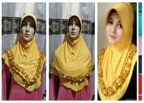 Terbaru Jilbab Bergo Gotik Jersey Termurah jilbab bergo instan sulam kerudung terbaru murah bundaku net