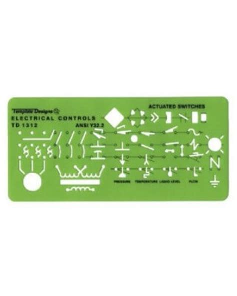 alvin td1312 electrical controls drafting template