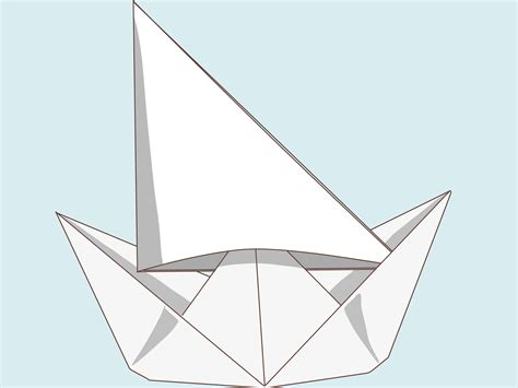 How Do You Make A Paper Boat Step By Step - how to make a paper boat with a big sail 12 steps with