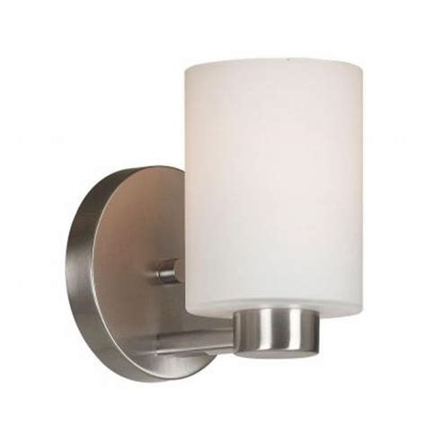 Wall Sconce Home Depot kenroy home encounters 1 light brushed steel wall sconce 10181bs the home depot
