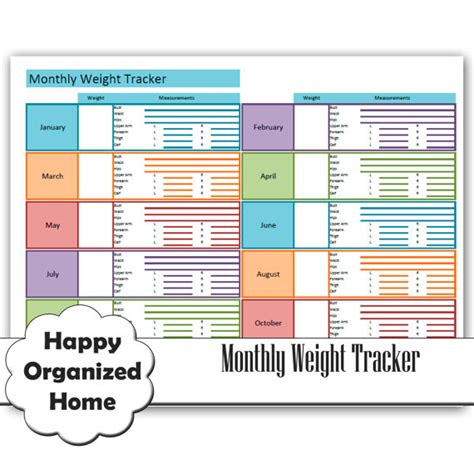 weight management tracker weight loss and measurement progress chart by