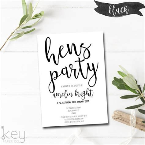 free printable hen party decorations 8 hen party invitations free sle exle format