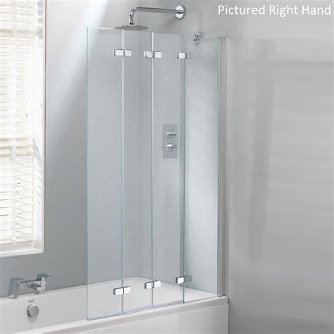 850mm Shower Door Folding Bath Shower Glass Bathroom Screen Fold Pivot Folding Bath Shower Screen Decem Hinged