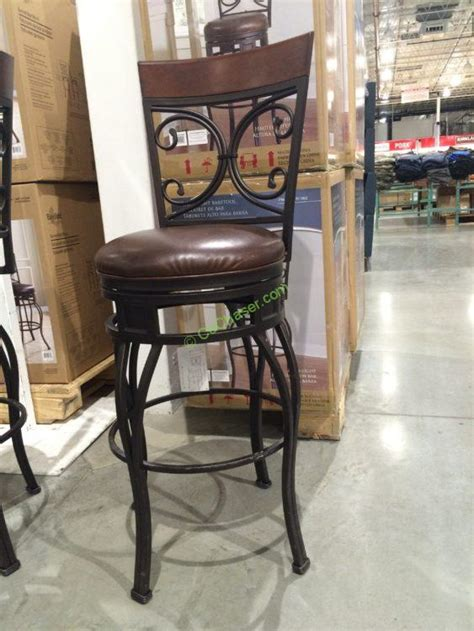 Costco Bar Stool by American Heritage Swivel Metal Barstool Bar Height