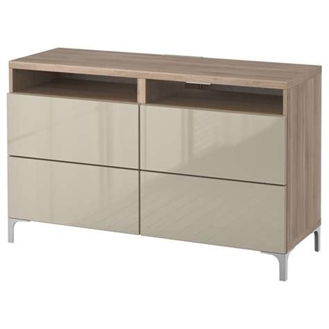 ikea tv bench walnut colour besta selsviken tv bench grey stained walnut effect high