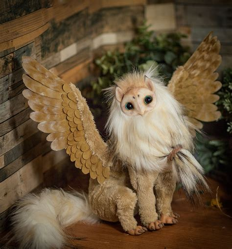posable doll gryphon poseable doll owl tyto alba by furrykami
