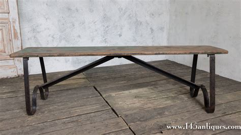 small wooden benches for sale small iron and wood bench for sale at 1stdibs