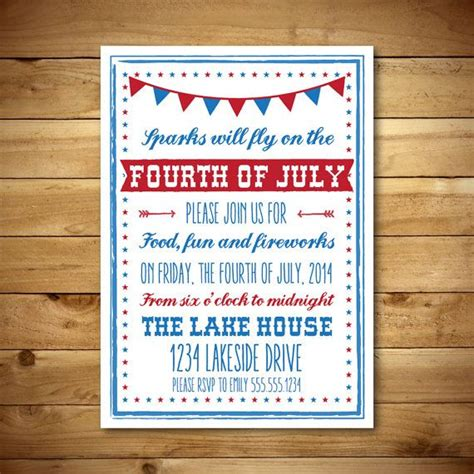 4th of july invitation templates printable fourth of july invitation template july 4th