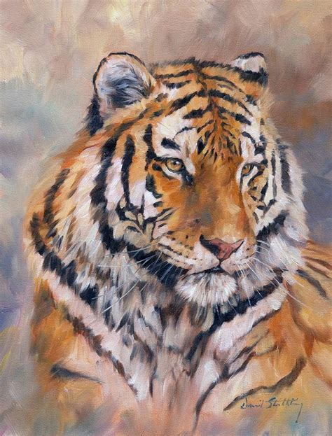 Painting Tiger amur tiger painting by david stribbling