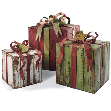 artisan packages with tin bows artisan christmas decor