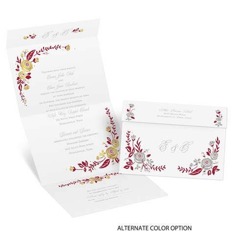 Seal And Send Wedding Invitations by Roses And Whimsy Foil Seal And Send Invitation