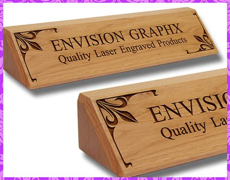 wooden name plates for desk personalized custom engraved alder wood classic desk name