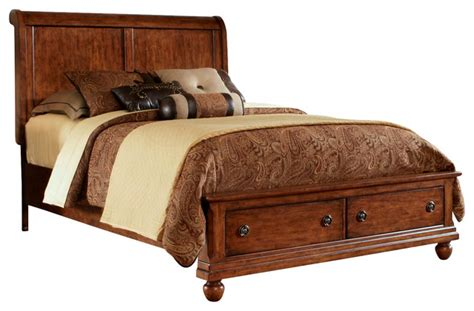 rustic traditions cherry storage bedroom furniture set liberty rustic traditions queen sleigh bed with storage