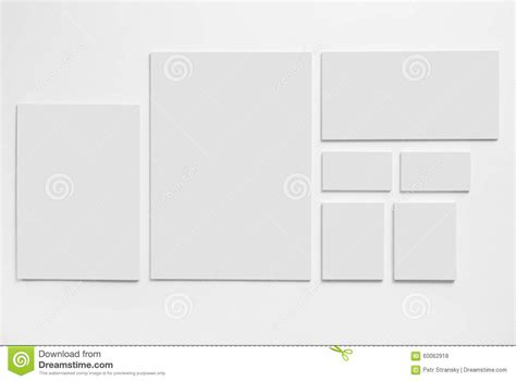 template mockup card set gray stationery mock up template on white stock photo