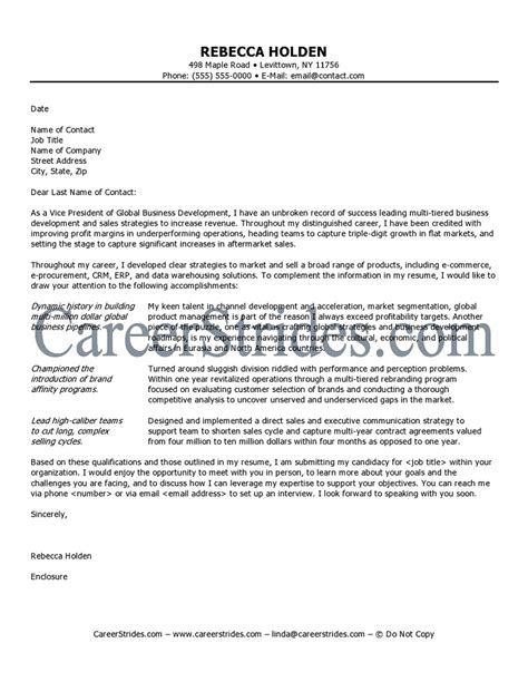 sle cover letter for interest as competitive as an executive level search is you