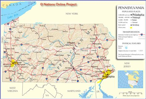 pennsylvania ipl2 stately knowledge facts about the us map pennsylvania bnhspine com