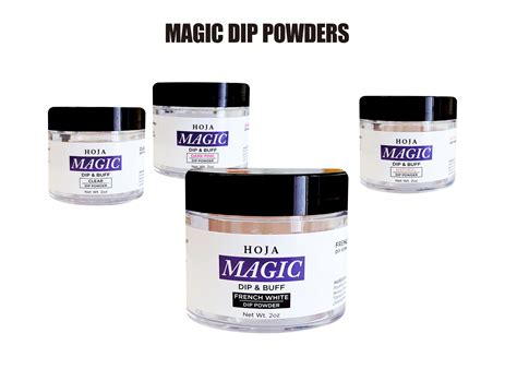 Edera Magic White Powder magic dip powder white hoja nail