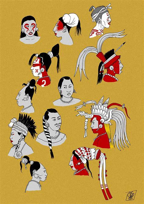 maya women hairstyles  headwear   classic period